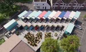 Micro-campus in shipping containers