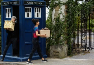 Far from a mundane life event … the Doctor helps Bill move into her student house.