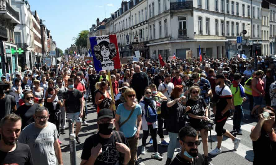 Demonstration against the French Covid pass in Lille on Saturday