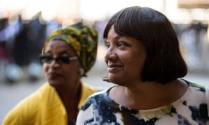 Diane Abbott, the shadow home secretary, at the service.