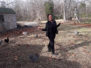 Chantel Johnson at her first homestead in Chatham county, North Carolina, 2016.
