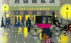 Detail from a 2014 Christmas card designed by Geoff White featuring the Latchmere pub in Battersea, south London