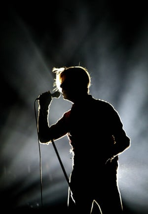 Bowie on stage in 2003