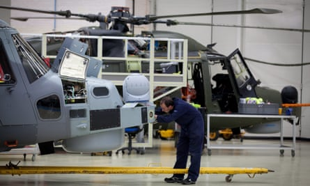 Wildcat AW159 helicopters at the AgustaWestland factory in Yeovil, 2012