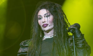 Pete Burns performing in 2012. He claimed to have undergone 300 plastic surgery procedures.