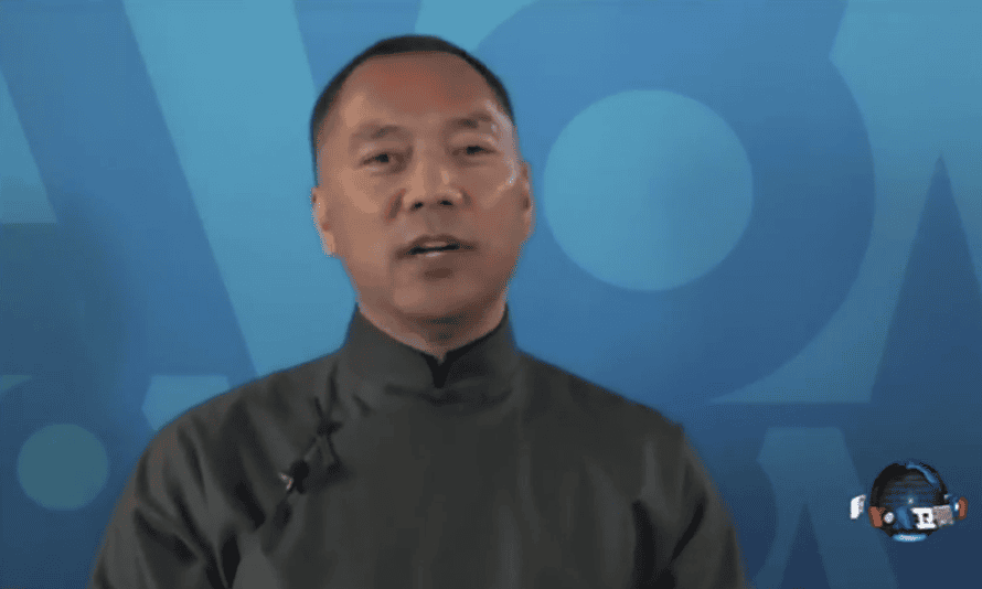 Chinese billionaire Guo Wengui who is wanted by Chinese authorities.
