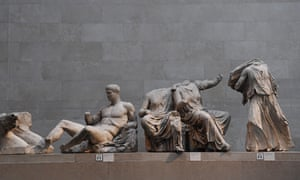 Longstanding dispute ... the Parthenon marbles on display at the British Museum in London.