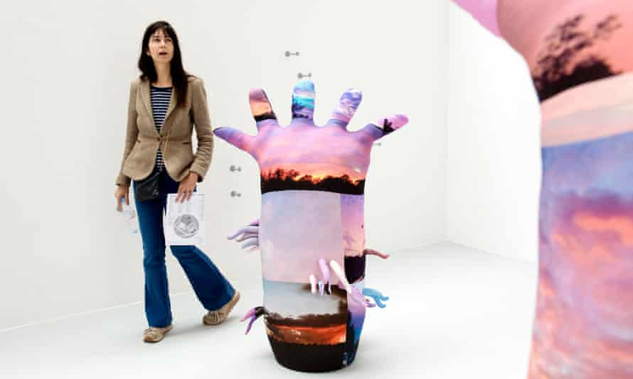 Gillian Wearing examines degree show work at Goldsmiths.