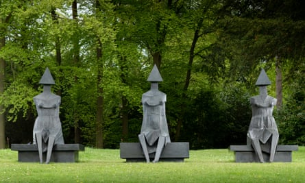 Lynn Chadwick's Little Girl I, II and III sculptures