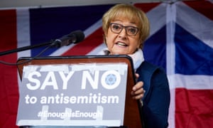 The Labour MP Dame Margaret Hodge last autumn at a rally in Manchester highlighting a rise in anti-Jewish incidents.
