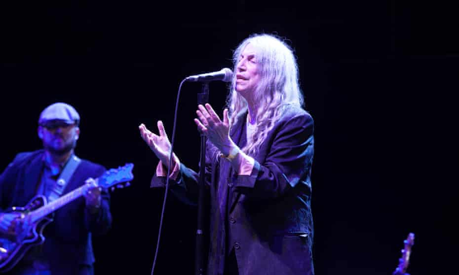 Patti Smith at the Royal Albert Hall, with her son, Jackson, on guitar.