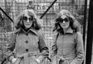 Fashion sisters (sunglasses and platforms), 1973