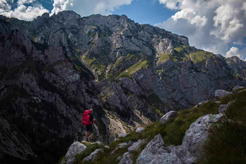 Looking out on the Durmitor massif in Montenegro.