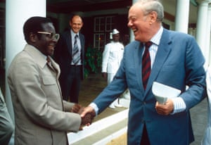 Mugabe and Lord Soames in Rhodesia, 1980