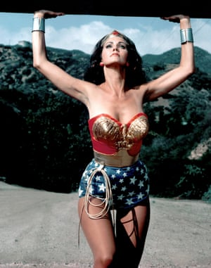 Lynda Carter as she appeared in the Wonder Woman TV series in the 1970s.
