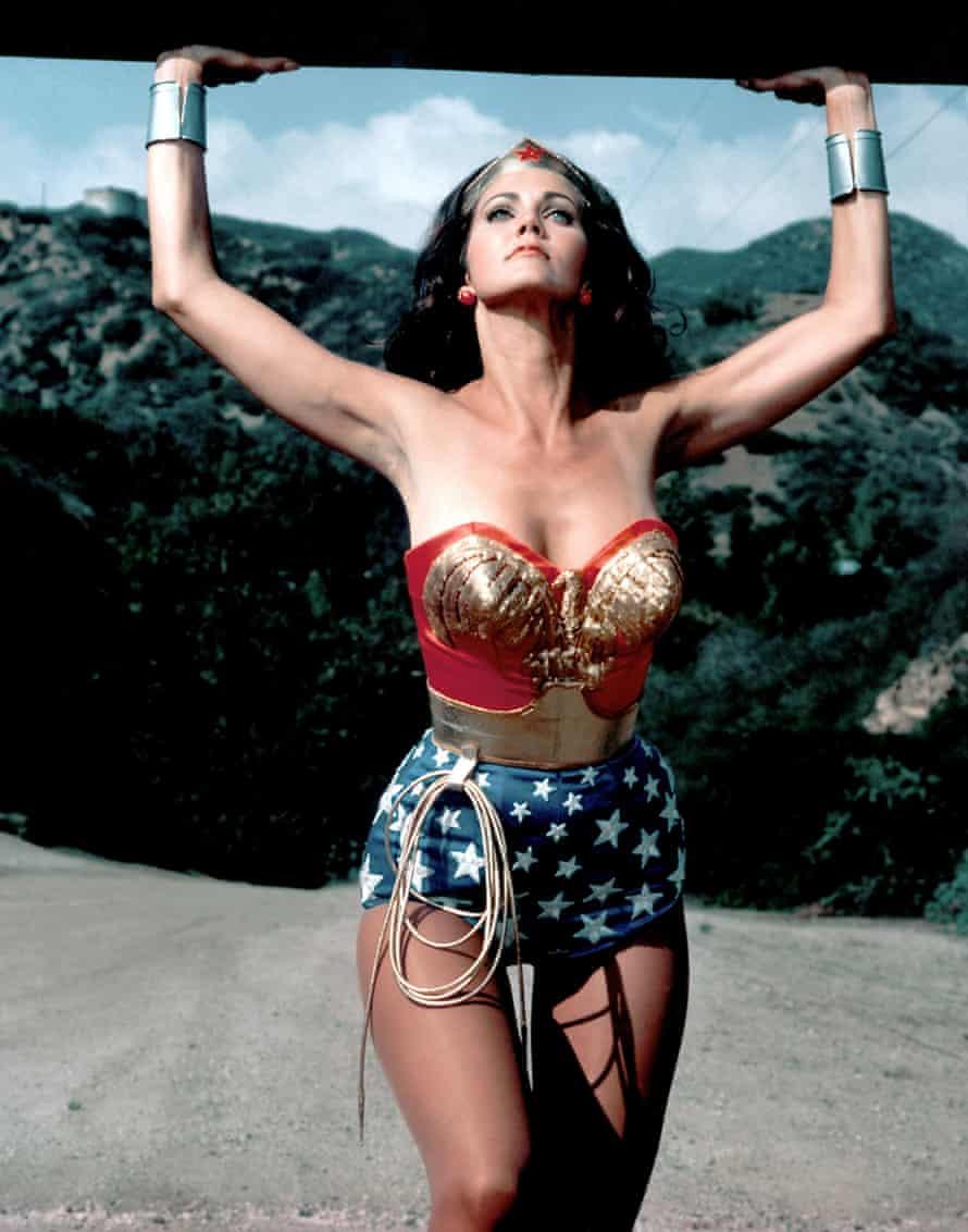 Lynda Carter as Wonder Woman in the 70s TV series.
