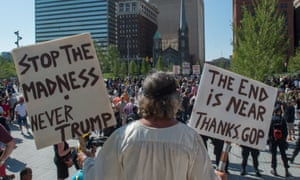 Protester in Cleveland