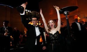 Guy Nattiv and Jaime Ray Newman, co-producers of Skin, won the 2019 Oscar for best live action short film.