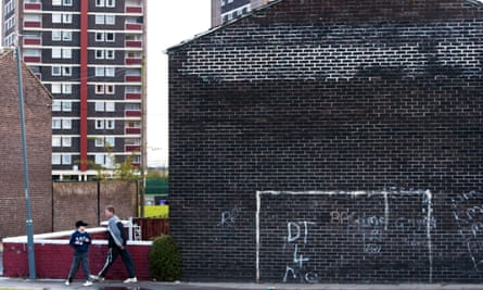 The goalposts in Liverpool where Wayne Rooney played as a kid.