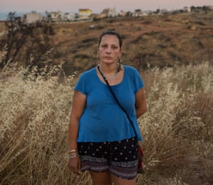 Barbara Kasselouri, who escaped from the fires in Greece in July 2018