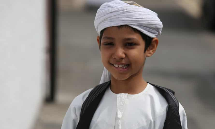 A boy at the mosque's opening.