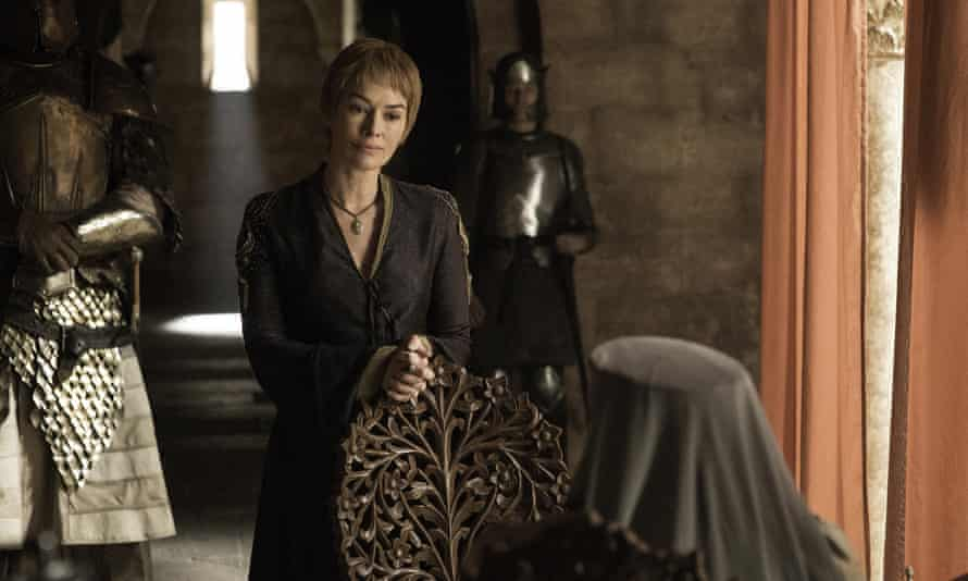 Cersei Lannister tears up at the hopelessness of the situation in the capital.
