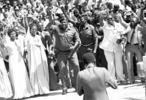 Amin celebrates his 51st birthday in 1979.