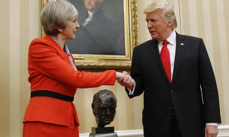 Donald Trump and Theresa May Oval Office