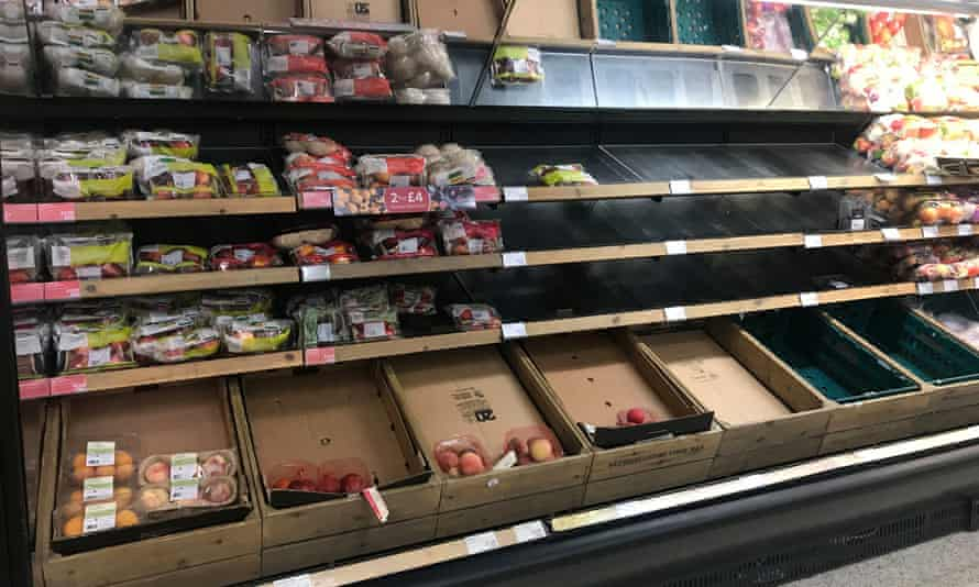 Empty shelves at a Marks & Spencer's store in Belfast. The retailer has warned that red tape will increase costs.