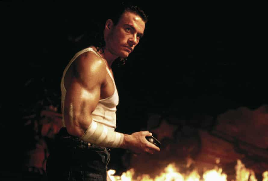 Jean-Claude Van Damme in Hard Target: containing multitudes of emotion and oil.