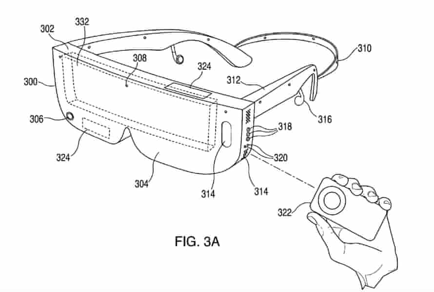 Apple's patent for a headset that could be used for VR.