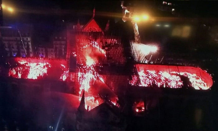 This Christmas I Ll Burn It To The Ground.Cathedral Fire Under Control After Spire And Roof Destroyed