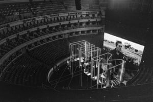 Frances McDrormand on the screen at the Albert Hall