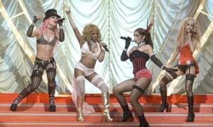 2001 MTV Movie Awards: Pink, Lil' Kim, Mya and Christina Aguilera