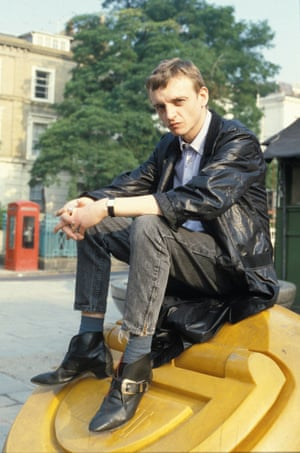 Mark E Smith in the early days of the Fall.