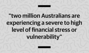 Two million Australians are experiencing a severe to high level of financial stress or vulnerability.
