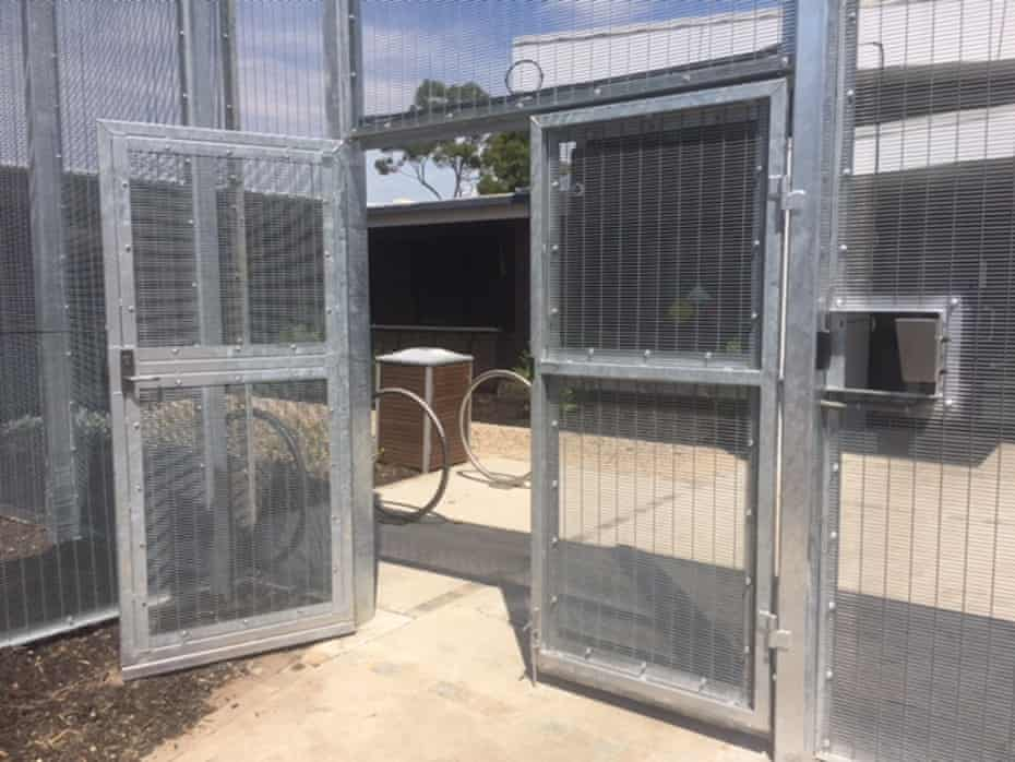 Front door of the Melbourne Immigration Transit Accomodation (Mita), an immigration detention centre run by Serco on behalf of the Australian Border Force