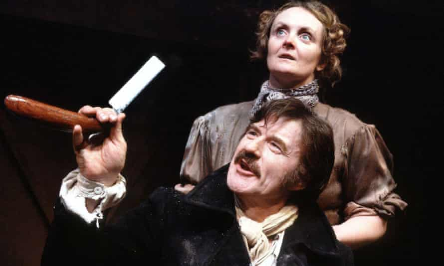 Leon Greene and Gillian Hanna in a production of Stephen Sondheim's Sweeney Todd at the Half Moon theatre, London, 1985.