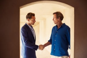 Refined anxiety or eroticised formality ... Hugh Laurie as Roper and Tom Hiddleston as Jonathan Pine in The Night Manager