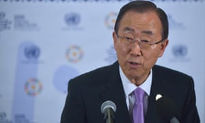 UN secretary general Ban Ki-moon at the third international conference on financing for development, in the Ethiopian capital, Addis Ababa. The thorny issue of multinational tax avoidance, critical to the economic health of developing nations, remained unresolved at the end of the conference.