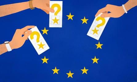 Women unsure abouit EU vote - Illustration by Sébastien Thibault