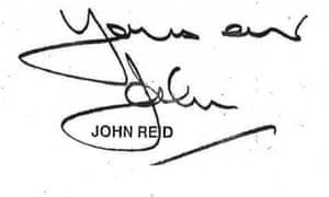 Prince Charles Letter - Yours ever John Reid