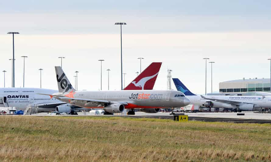 Planes at Melbourne airport.