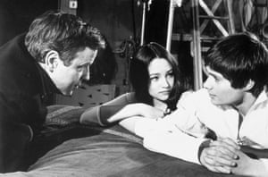 Zeffirelli directs Olivia Hussey and Leonard Whiting in Romeo and Juliet, 1967