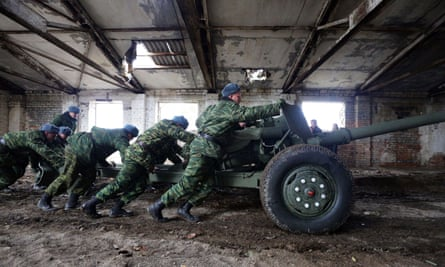 Pro-Russian separatists in Donetsk in Ukraine, one of the regions where Russia has been reasserting its power.