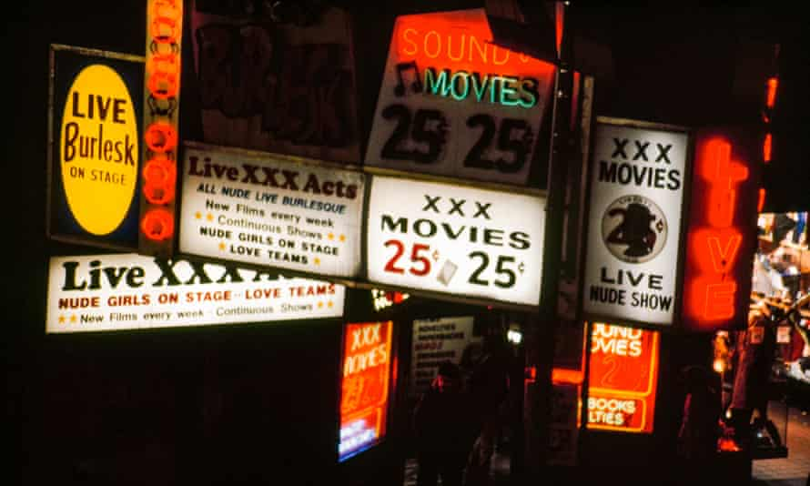 Jane Dickson In Times Square: sleaze was peddled openly