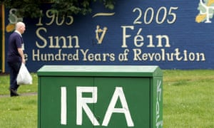 IRA graffiti on a telephone junction box in west Belfast