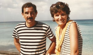 Hunter Davies and Margaret Forster in 1986