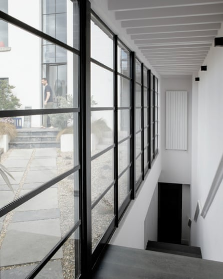 'A lift used to haul coins was replaced with a glazed double-height space leading to the roof terrace.'