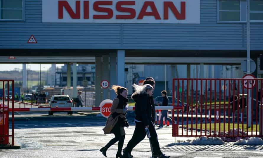 The Nissan car plant at Sunderland, north-east England